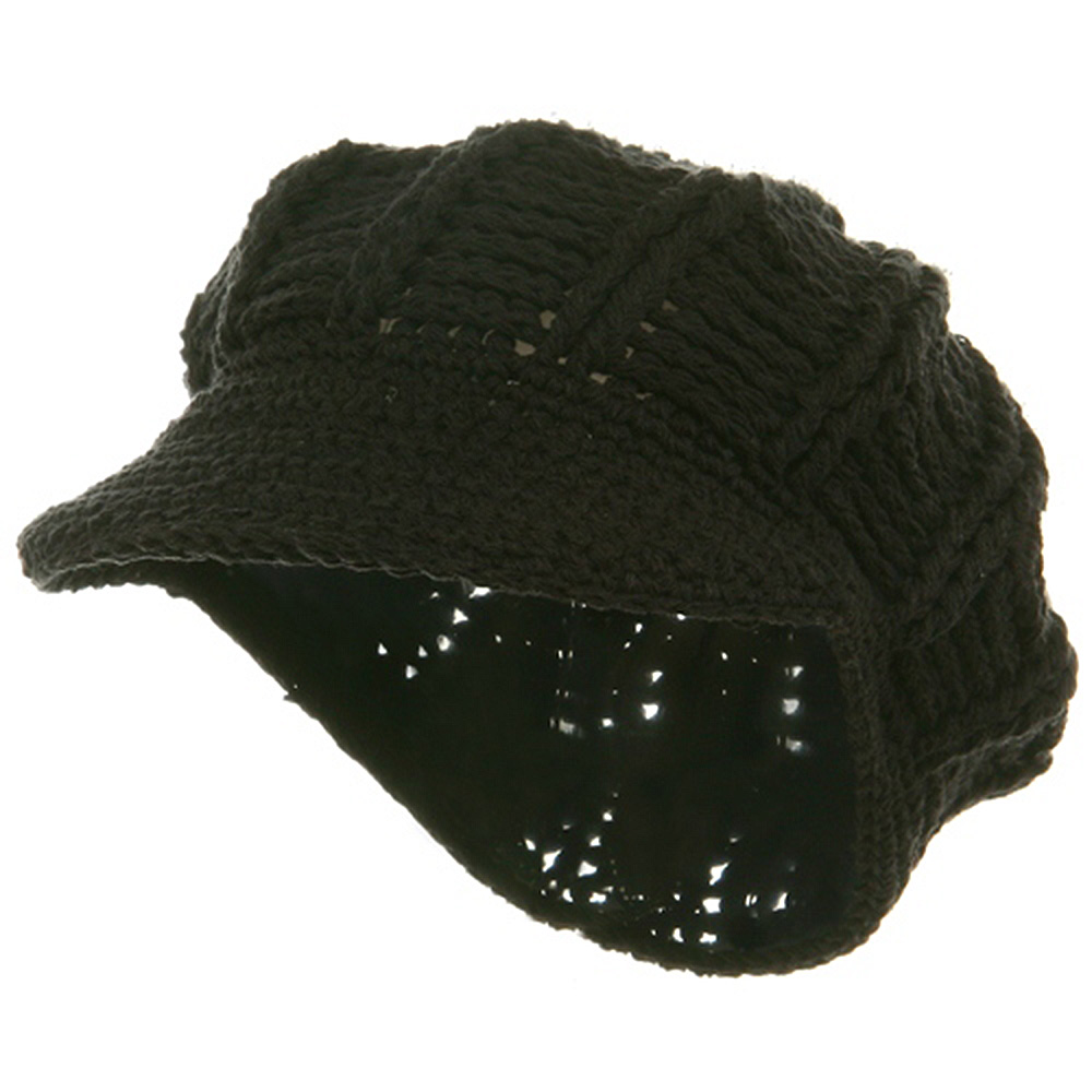ML Knit Newsboy Hat - Black - Hats and Caps Online Shop - Hip Head Gear