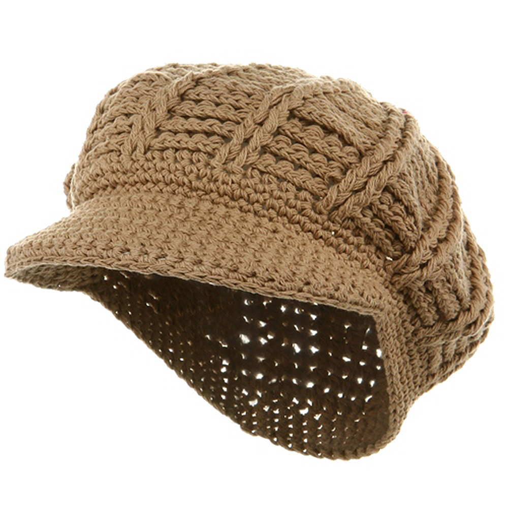 ML Knit Newsboy Hat - Khaki - Hats and Caps Online Shop - Hip Head Gear