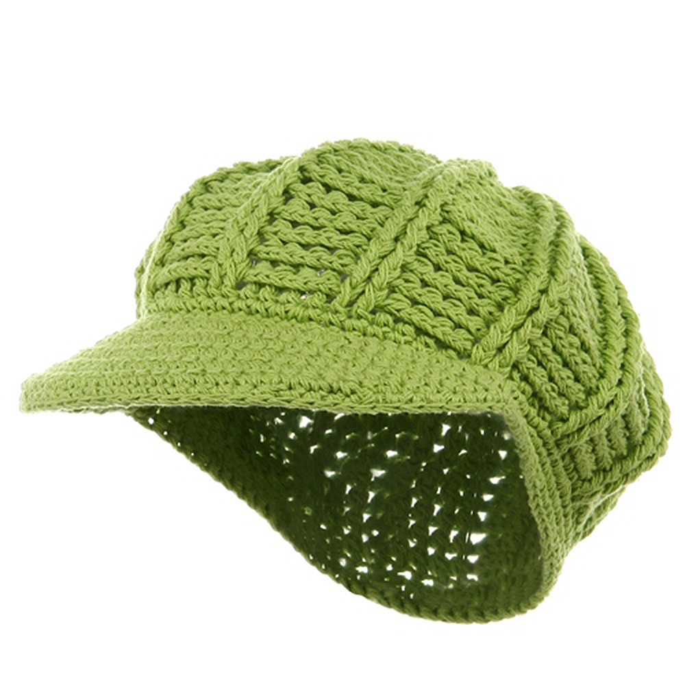 ML Knit Newsboy Hat - Lime - Hats and Caps Online Shop - Hip Head Gear