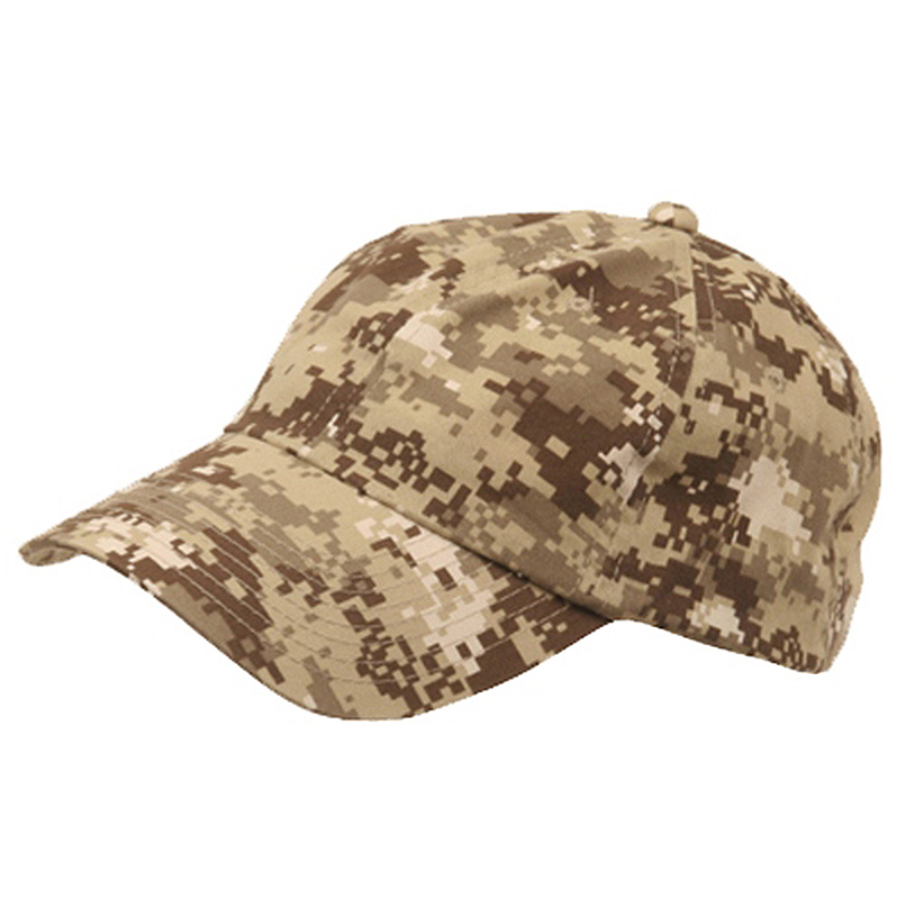 Unstructured Digital Camo Cap-Khaki - Hats and Caps Online Shop - Hip Head Gear