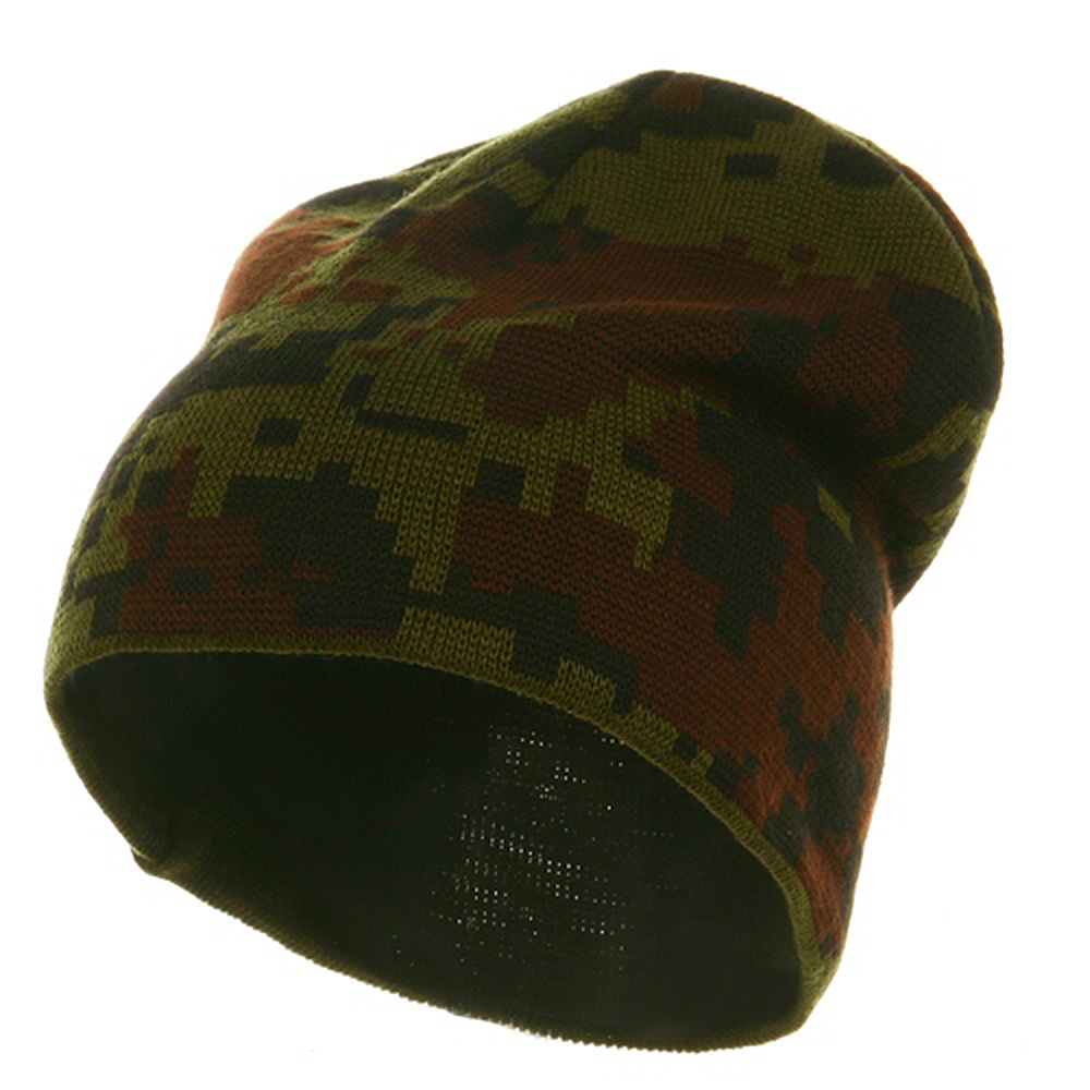 Digital Camo Beanie - Woodland - Hats and Caps Online Shop - Hip Head Gear