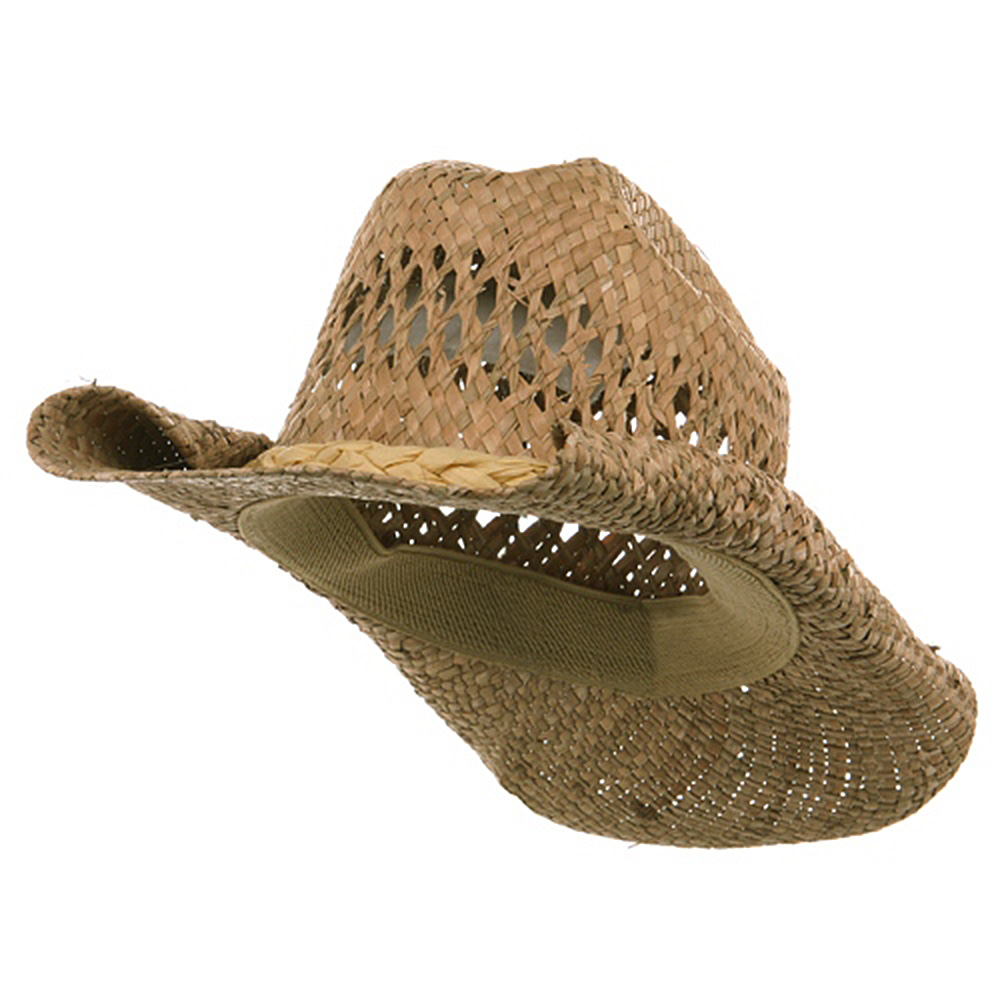 Straw Cowboy Hat-Natural Roll - Hats and Caps Online Shop - Hip Head Gear