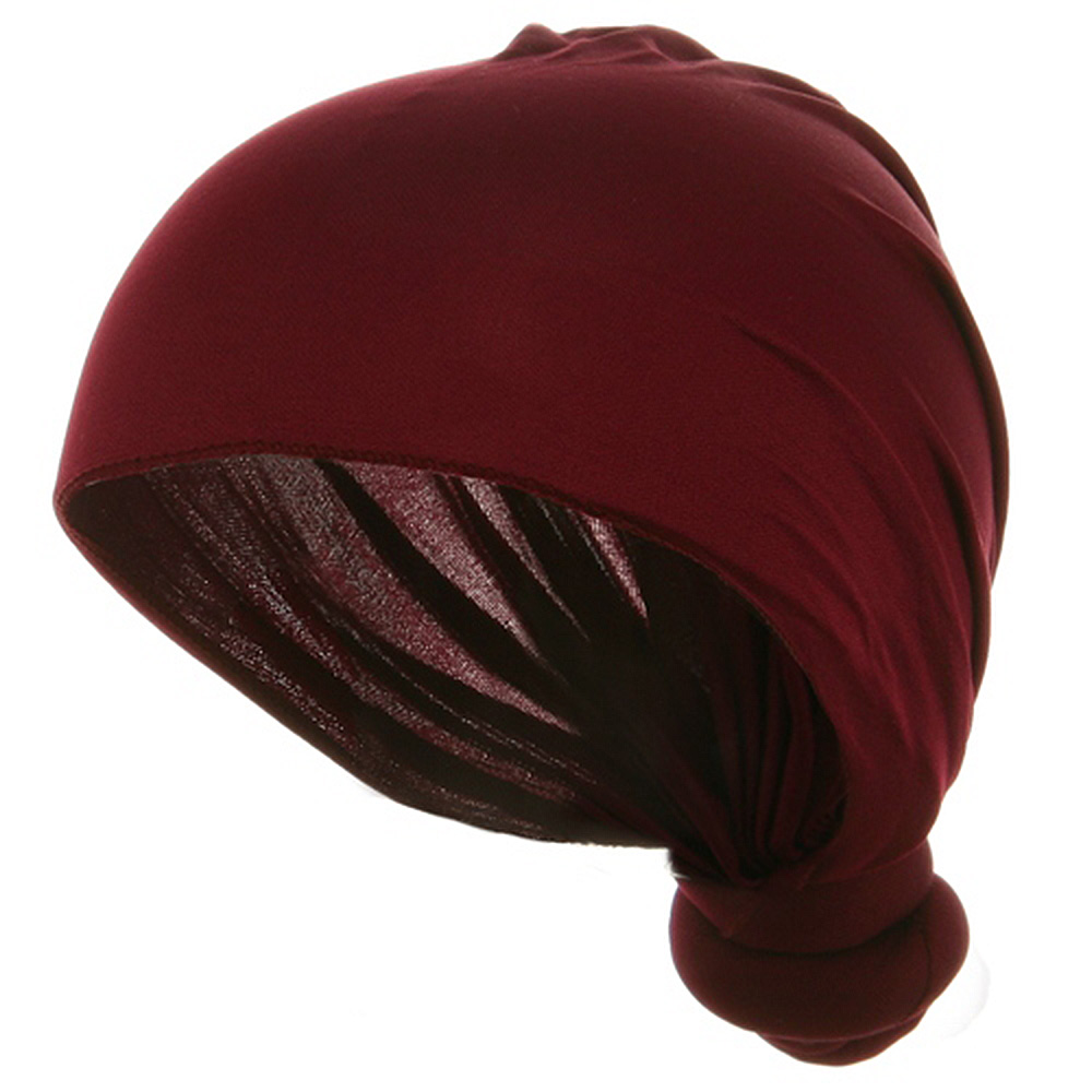 Handmade Knotted Wrap-Burgundy - Hats and Caps Online Shop - Hip Head Gear