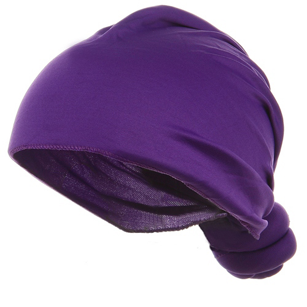 Handmade Knotted Wrap-Purple - Hats and Caps Online Shop - Hip Head Gear