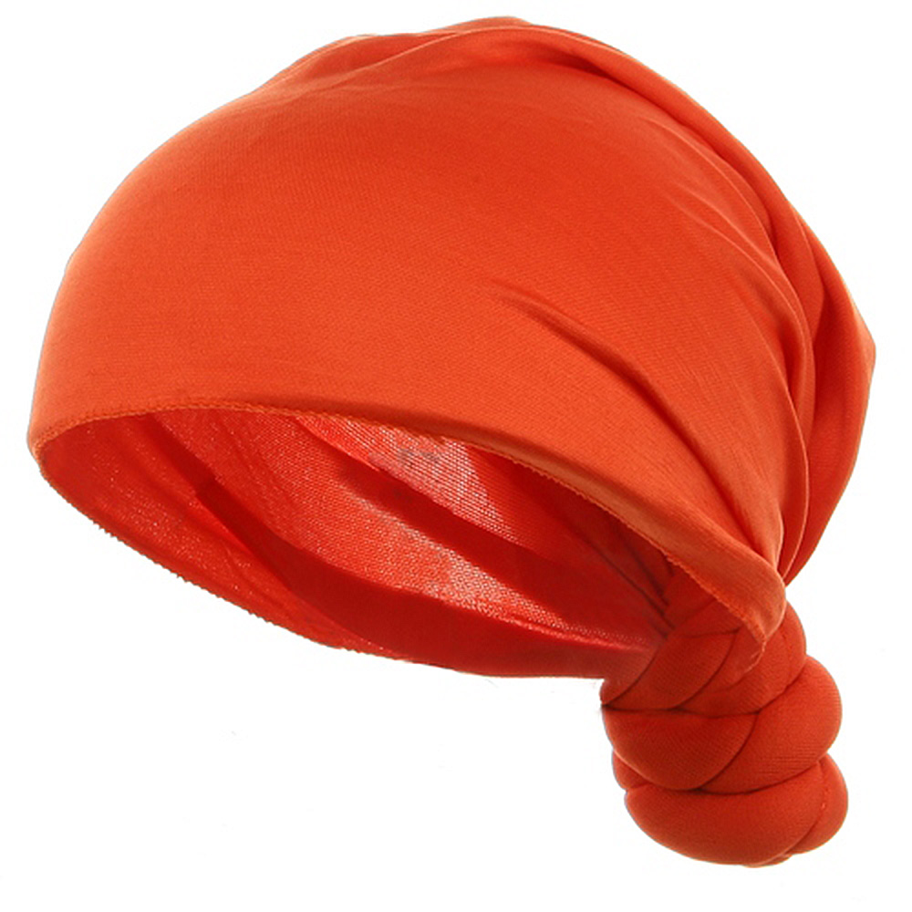 Handmade Knotted Wrap-Orange - Hats and Caps Online Shop - Hip Head Gear