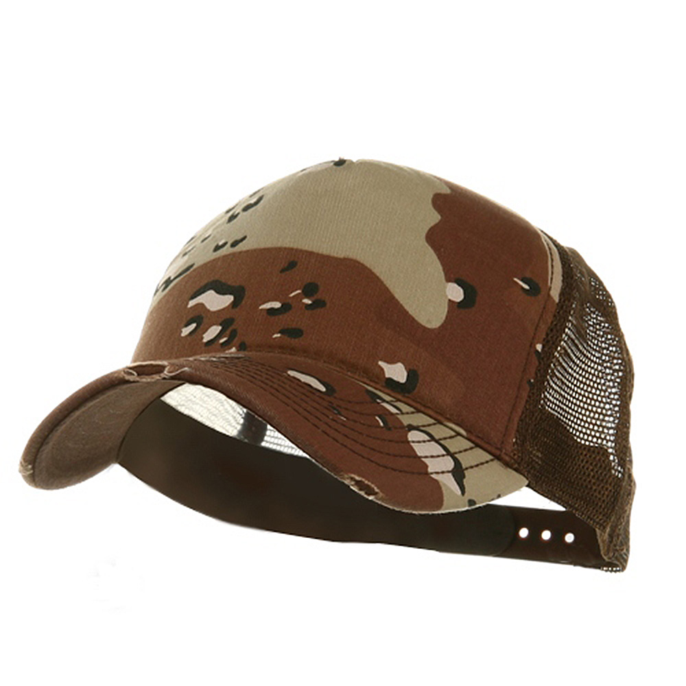 5 Panel Camouflage Trucker Cap-Desert - Hats and Caps Online Shop - Hip Head Gear