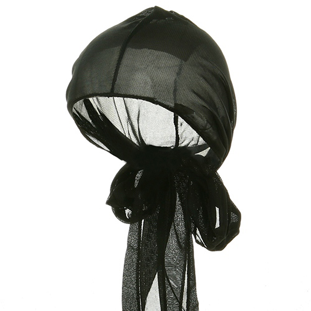 Large Satin Wrap-Black - Hats and Caps Online Shop - Hip Head Gear