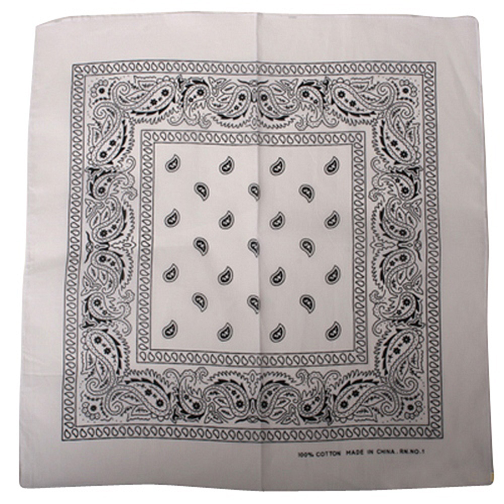 White Paisley Bandana - Hats and Caps Online Shop - Hip Head Gear