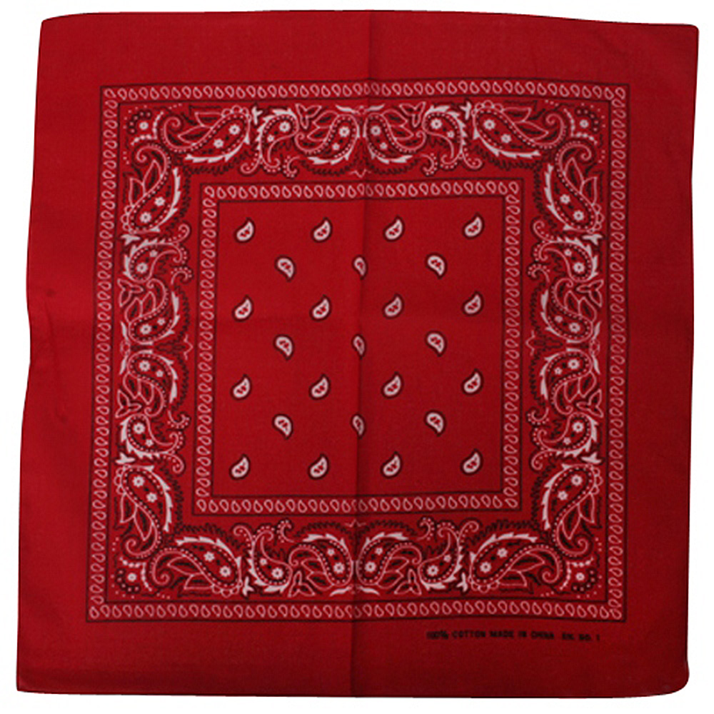 Red Paisley Bandanna - Hats and Caps Online Shop - Hip Head Gear