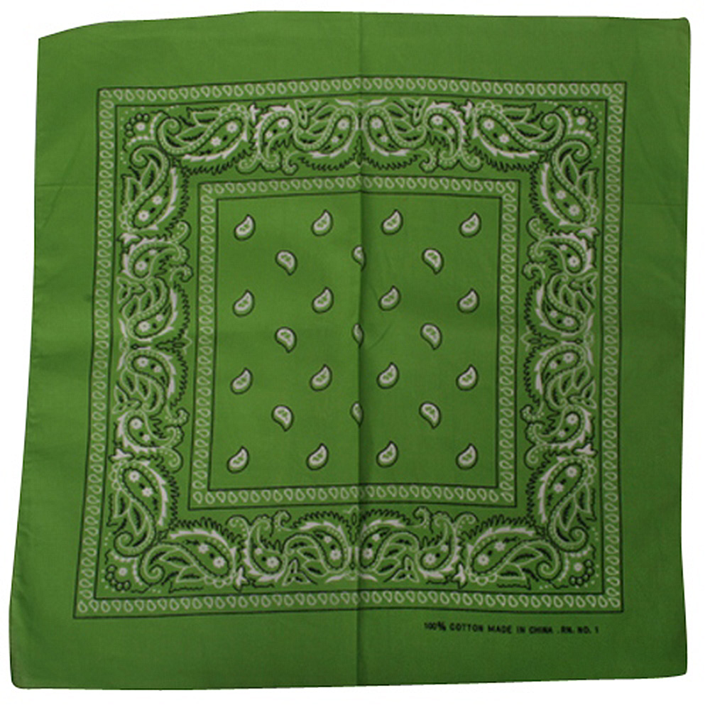 Lime Paisley Bandanna - Hats and Caps Online Shop - Hip Head Gear