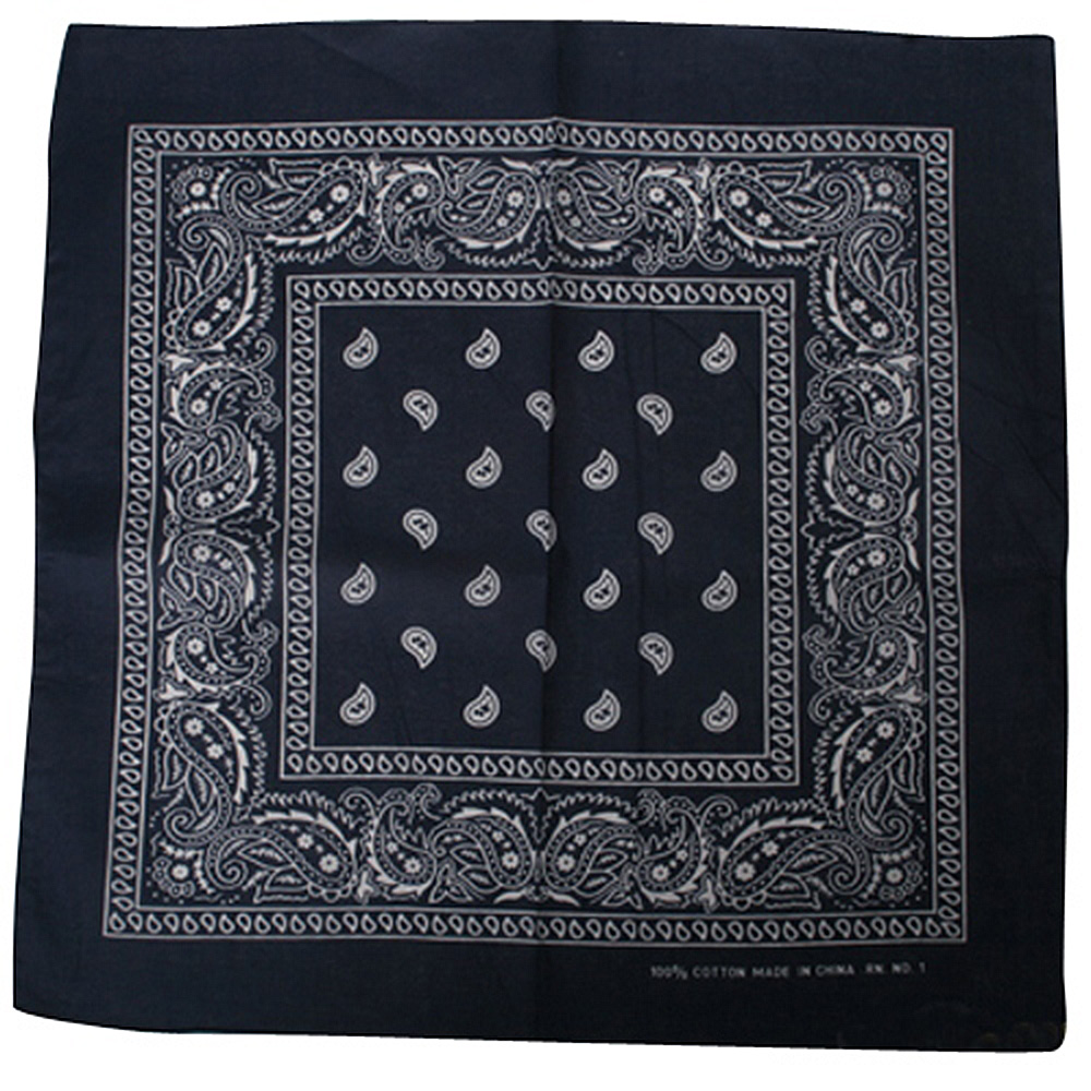 Bandanna/ Navy Paisley - Hats and Caps Online Shop - Hip Head Gear