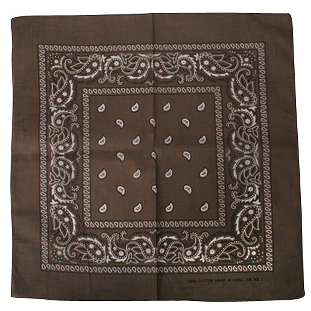 Bandanas / Brown Paisley - Hats and Caps Online Shop - Hip Head Gear