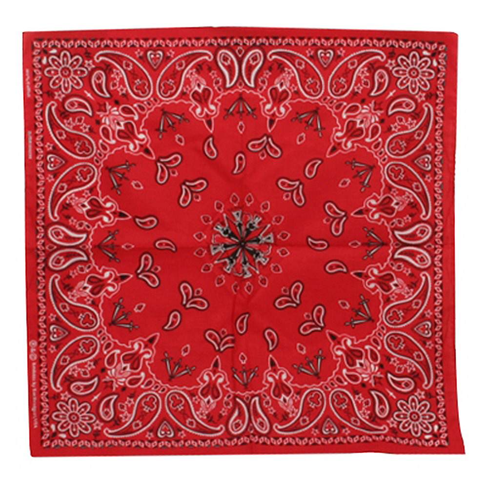 Red New Paisley Bandanas - Hats and Caps Online Shop - Hip Head Gear