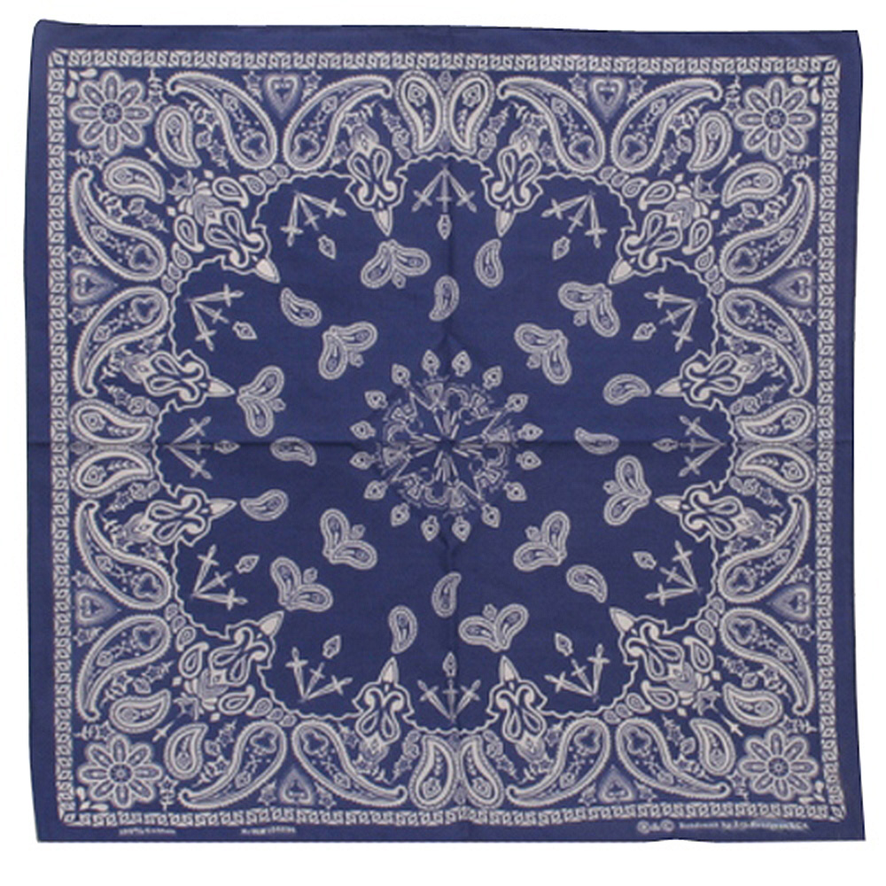 Navy New Paisley Bandannas - Hats and Caps Online Shop - Hip Head Gear