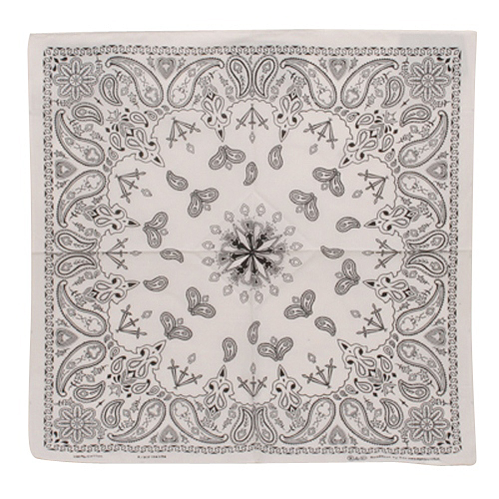 White New Paisley Bandannas - Hats and Caps Online Shop - Hip Head Gear