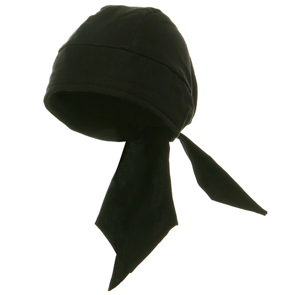 Deluxe Series Head Wrap- Solid Black - Hats and Caps Online Shop - Hip Head Gear