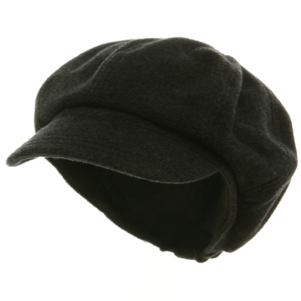 Big Size Melton Wool Newsboy Cap-Charcoal One Size - Hats and Caps Online Shop - Hip Head Gear