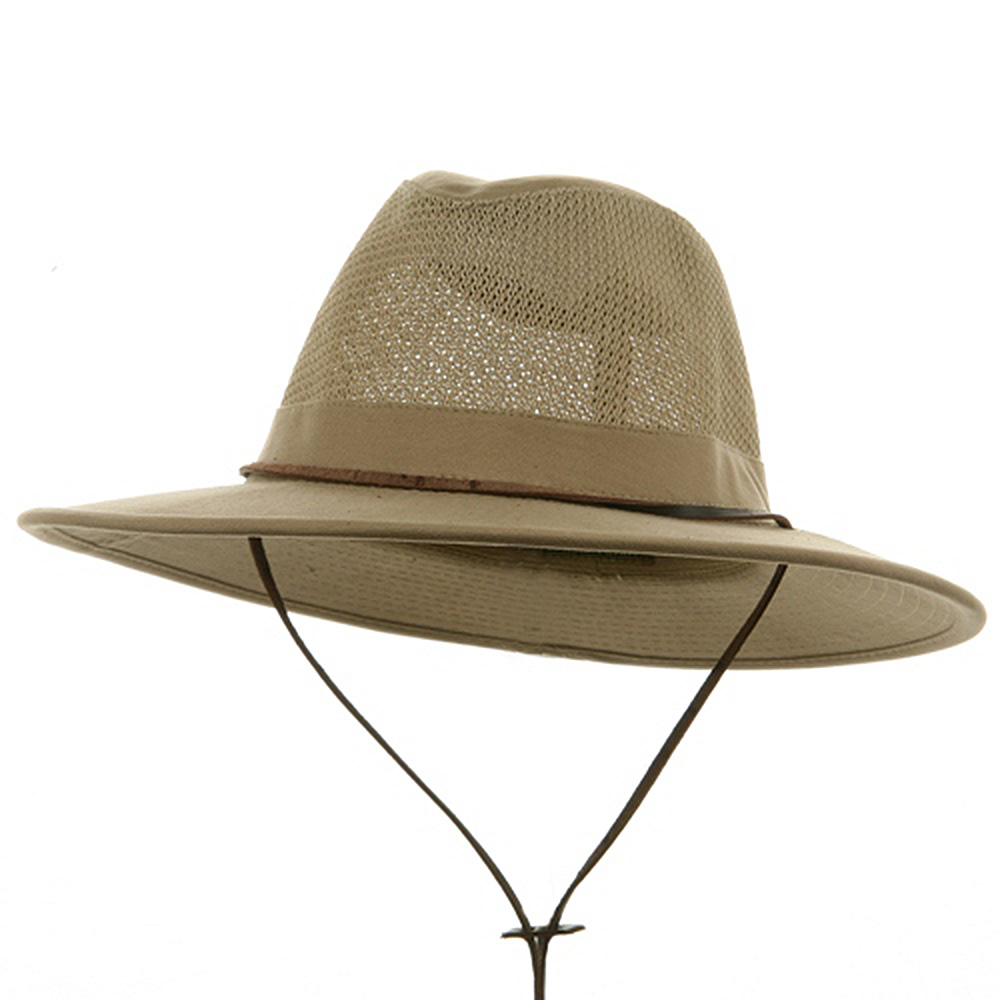 Big Size Mesh Safari Hat-Camel - Hats and Caps Online Shop - Hip Head Gear