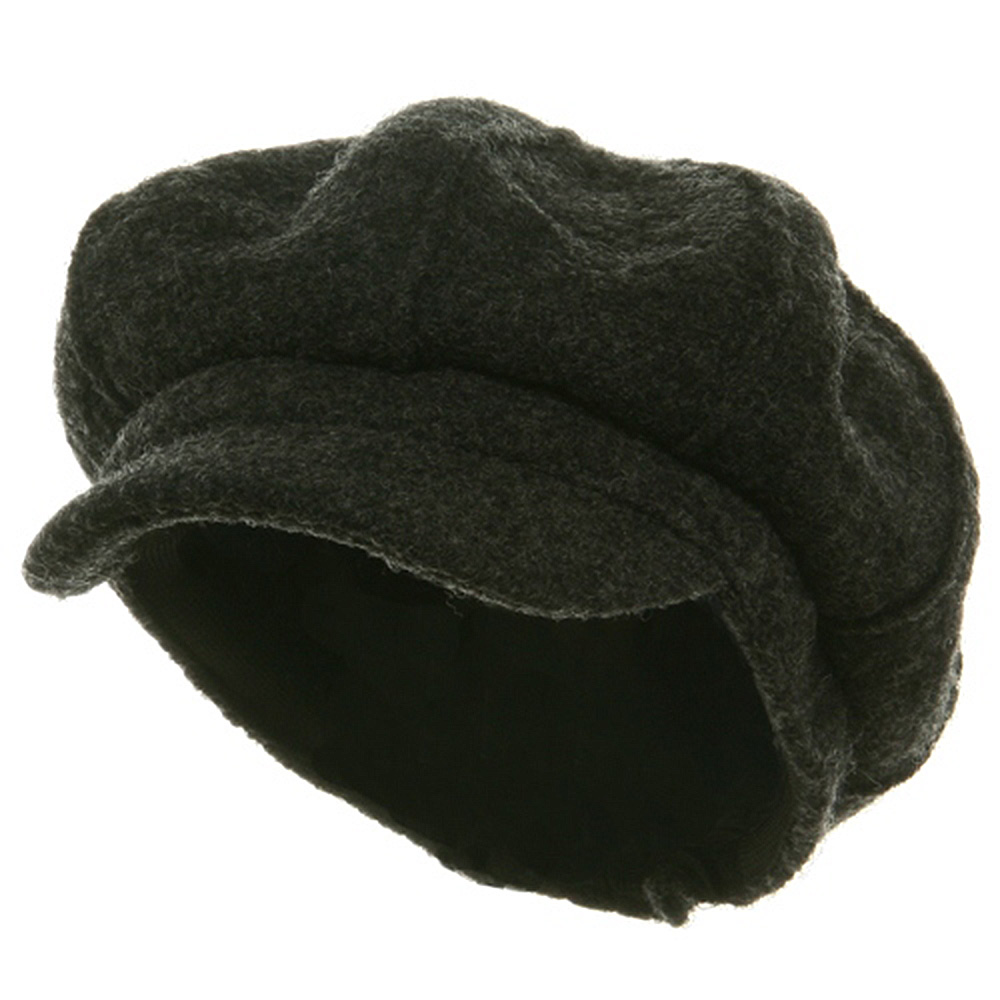Big Size Boiled Wool Newboy Cap-Charcoal - Hats and Caps Online Shop - Hip Head Gear