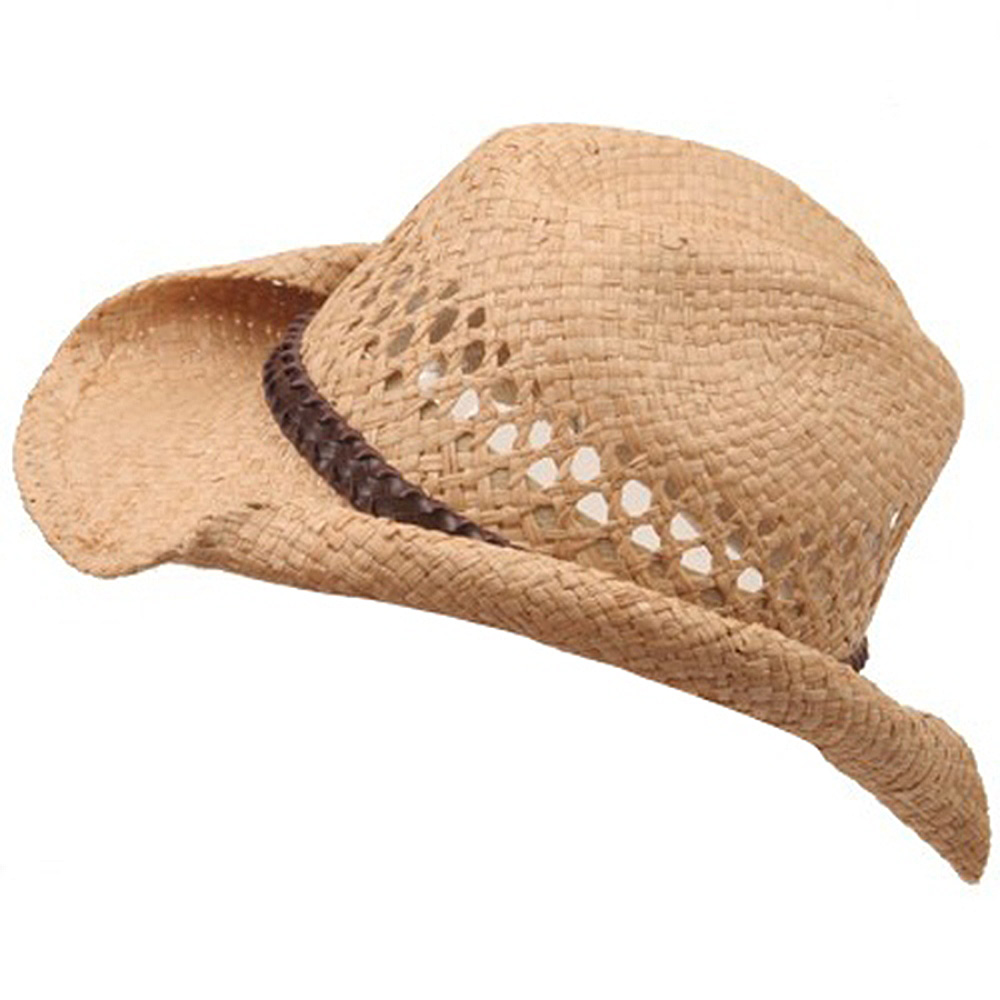 child's cowboy straw hats (01)-natural soft straw - Hats and Caps Online Shop - Hip Head Gear
