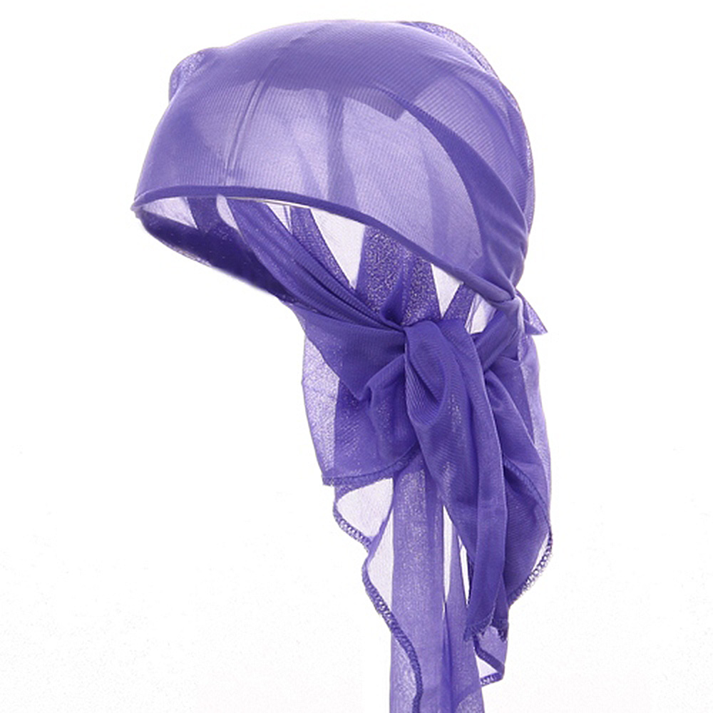 Satin Triangle Wrap-Purple - Hats and Caps Online Shop - Hip Head Gear