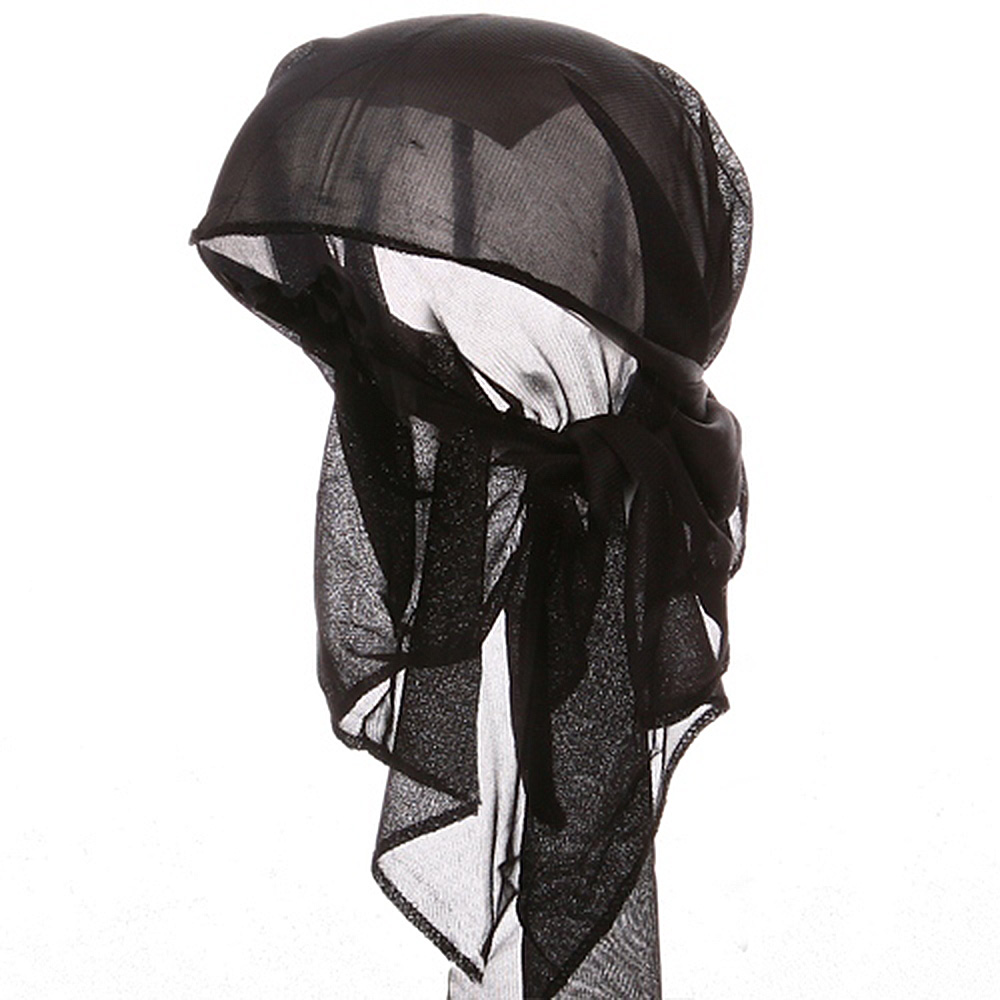 Satin Triangle Wrap-Black - Hats and Caps Online Shop - Hip Head Gear