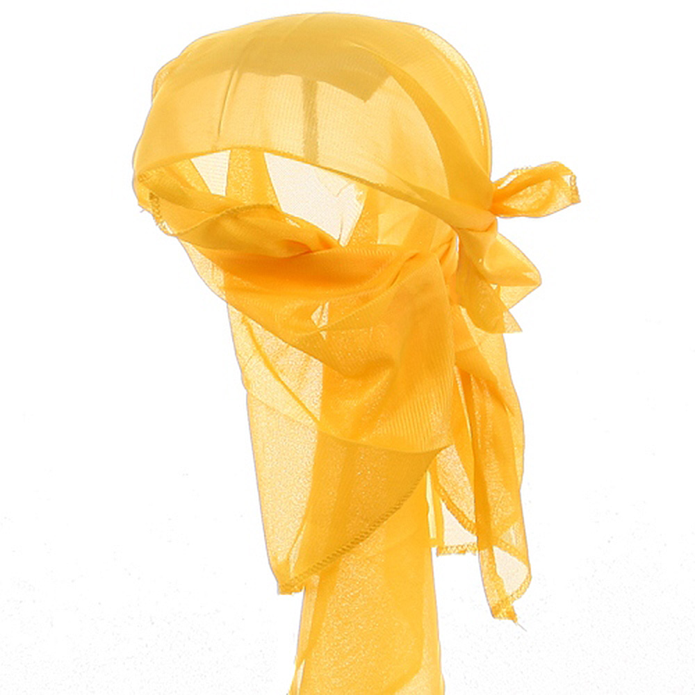 Satin Triangle Wrap-Yellow - Hats and Caps Online Shop - Hip Head Gear