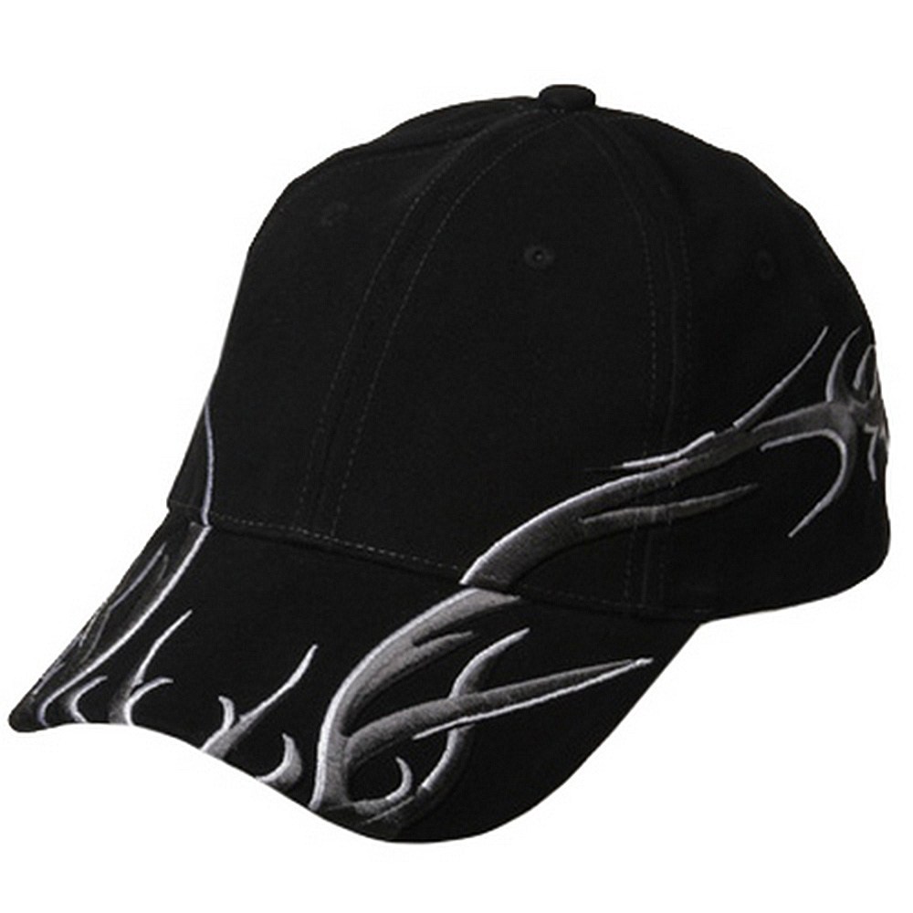 Brushed Deluxe Embroidery Cap-Black - Hats and Caps Online Shop - Hip Head Gear
