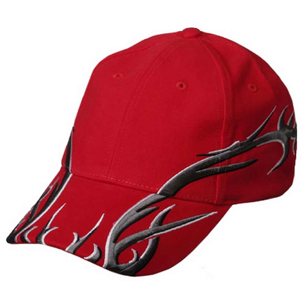 Brushed Deluxe Embroidery Cap-red - Hats and Caps Online Shop - Hip Head Gear