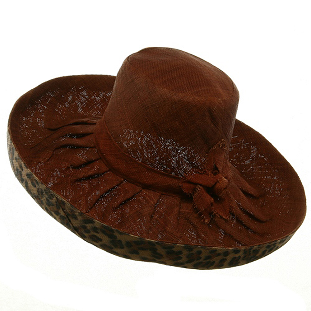 Raffia Two Tone Shapeable Hat-Brown Animal - Hats and Caps Online Shop - Hip Head Gear