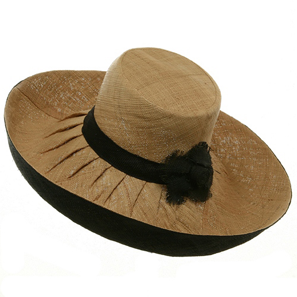 Raffia Two Tone Shapeable Hat-Natural Black - Hats and Caps Online Shop - Hip Head Gear