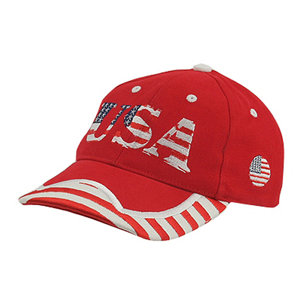 Youth Flag Cap - Red White - Hats and Caps Online Shop - Hip Head Gear