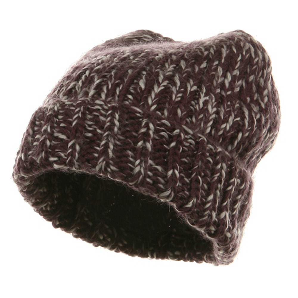 Big Knit Wool Beanie - Berry - Hats and Caps Online Shop - Hip Head Gear