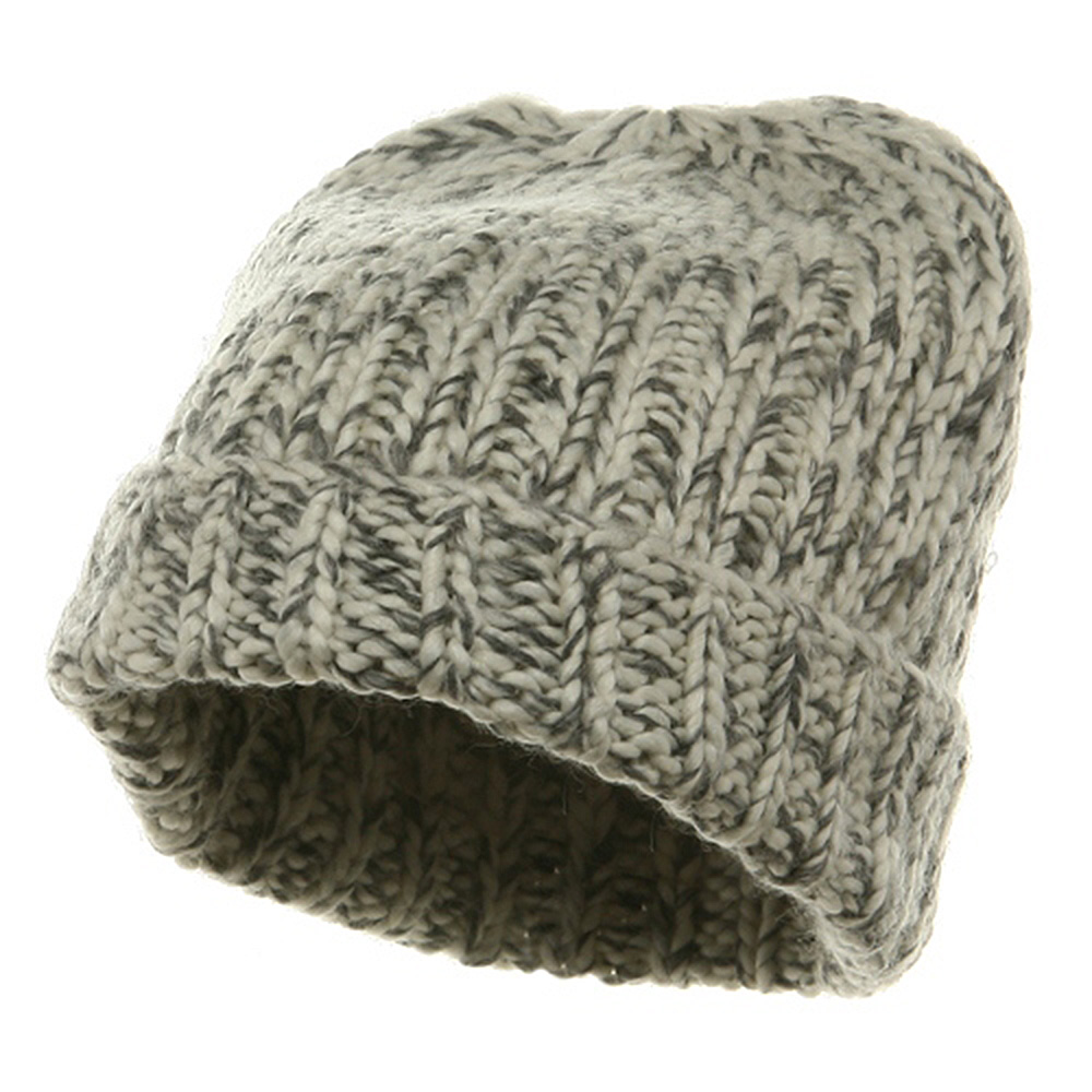 Big Knit Wool Beanie - White - Hats and Caps Online Shop - Hip Head Gear
