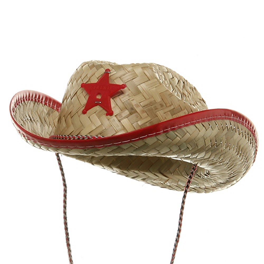 Toddler Sheriff Straw Hat - Red - Hats and Caps Online Shop - Hip Head Gear