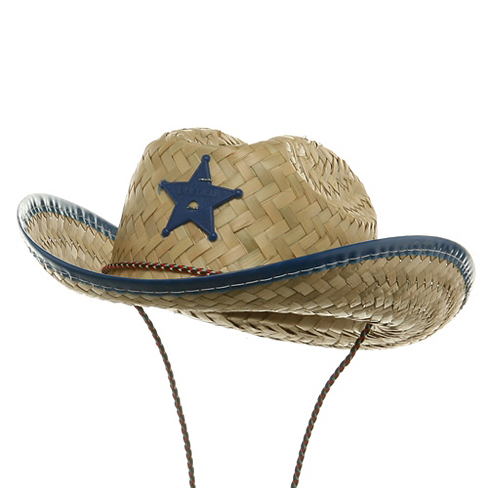 Toddler Sheriff Straw Hat - Royal - Hats and Caps Online Shop - Hip Head Gear