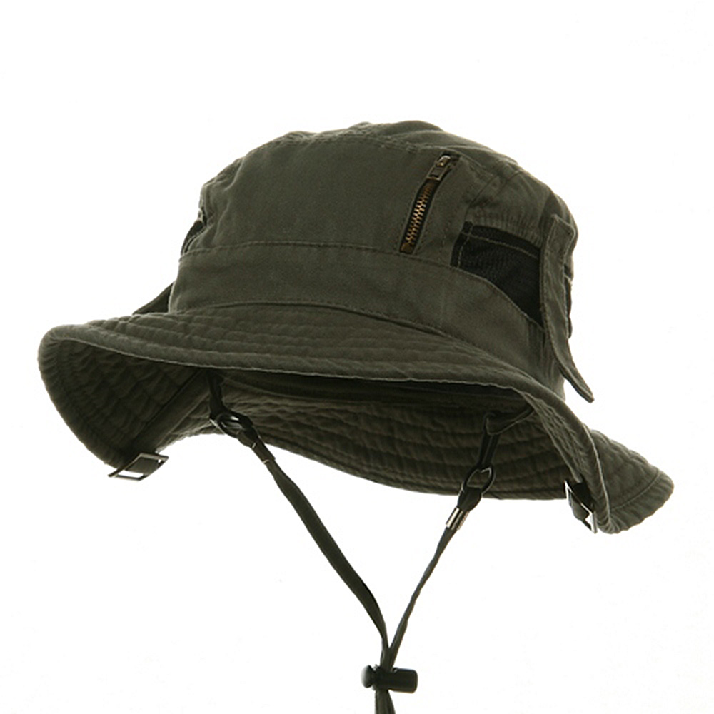 Canvas Fisherman Hat-Olive - Hats and Caps Online Shop - Hip Head Gear