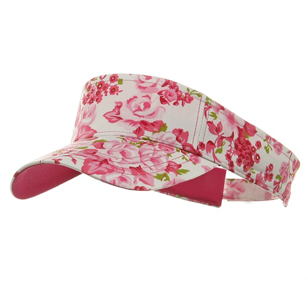 Prostyle Floral Visor - Fuchsia - Hats and Caps Online Shop - Hip Head Gear