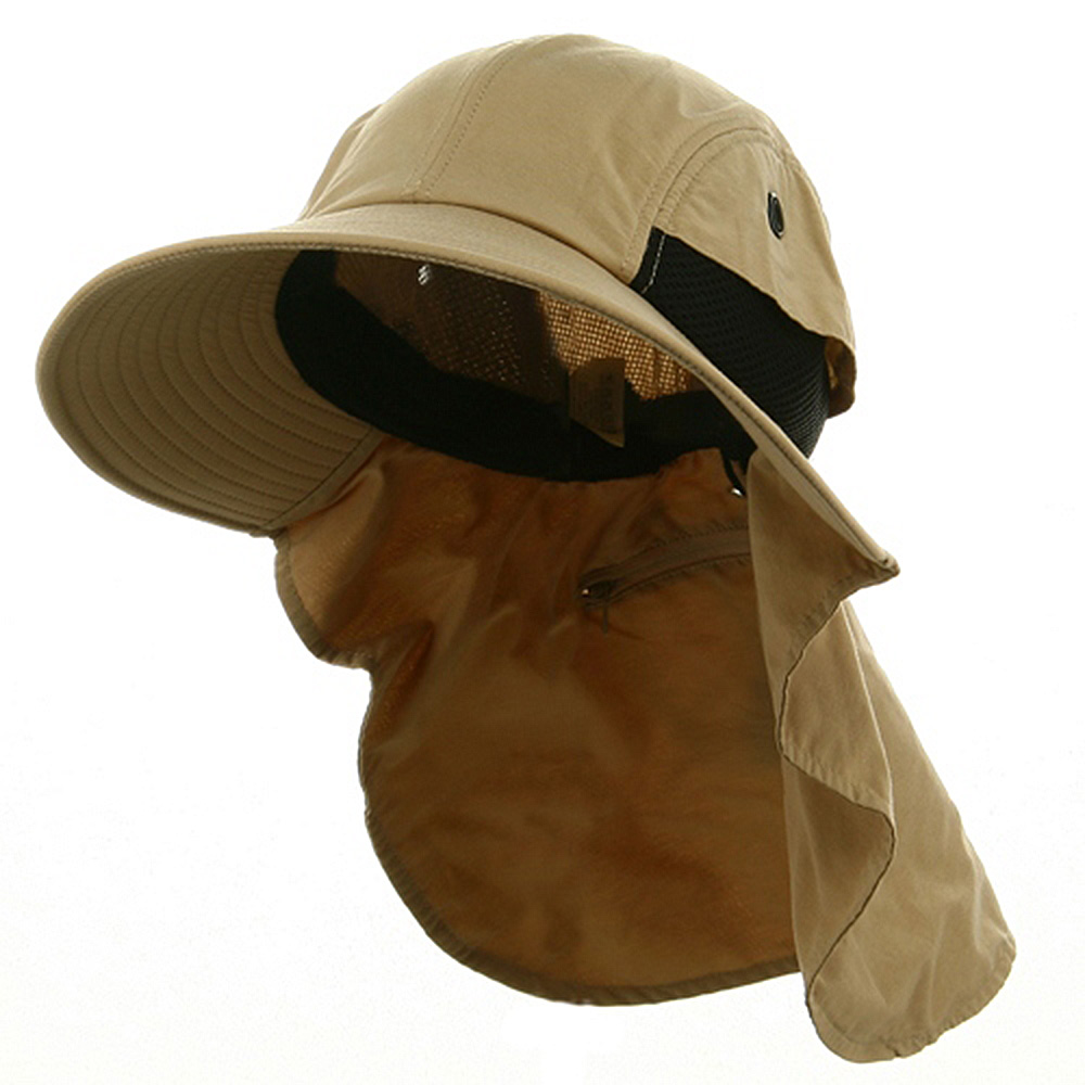 UV 45+ Extreme Condition Flap Hat-Khaki - Hats and Caps Online Shop - Hip Head Gear