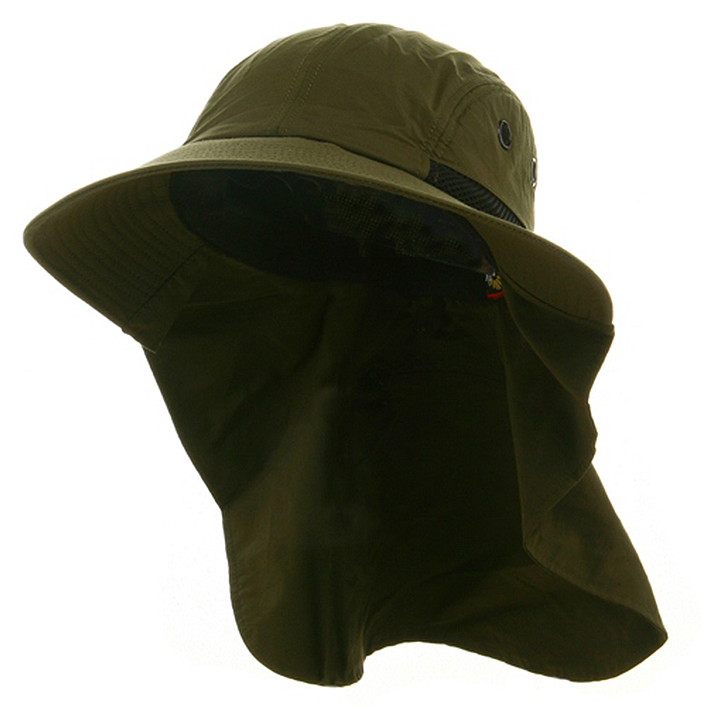 UV 45+ Extreme Condition Flap Hat-Olive - Hats and Caps Online Shop - Hip Head Gear