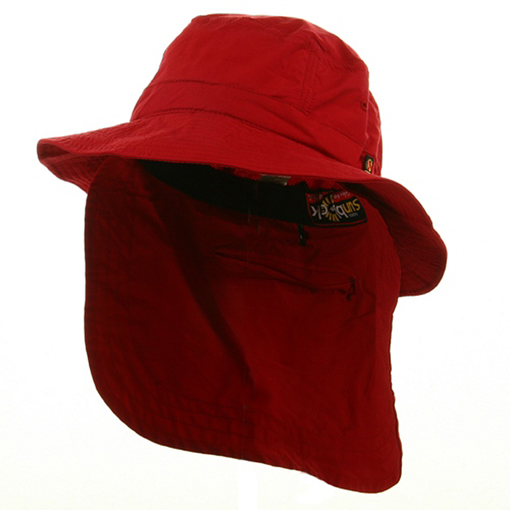UV 45+ Extreme Vacationer Flap Hats-Red