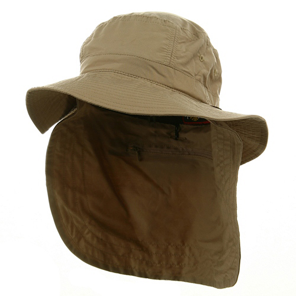 UV 45+ Extreme Vacationer Flap Hat-Khaki - Hats and Caps Online Shop - Hip Head Gear
