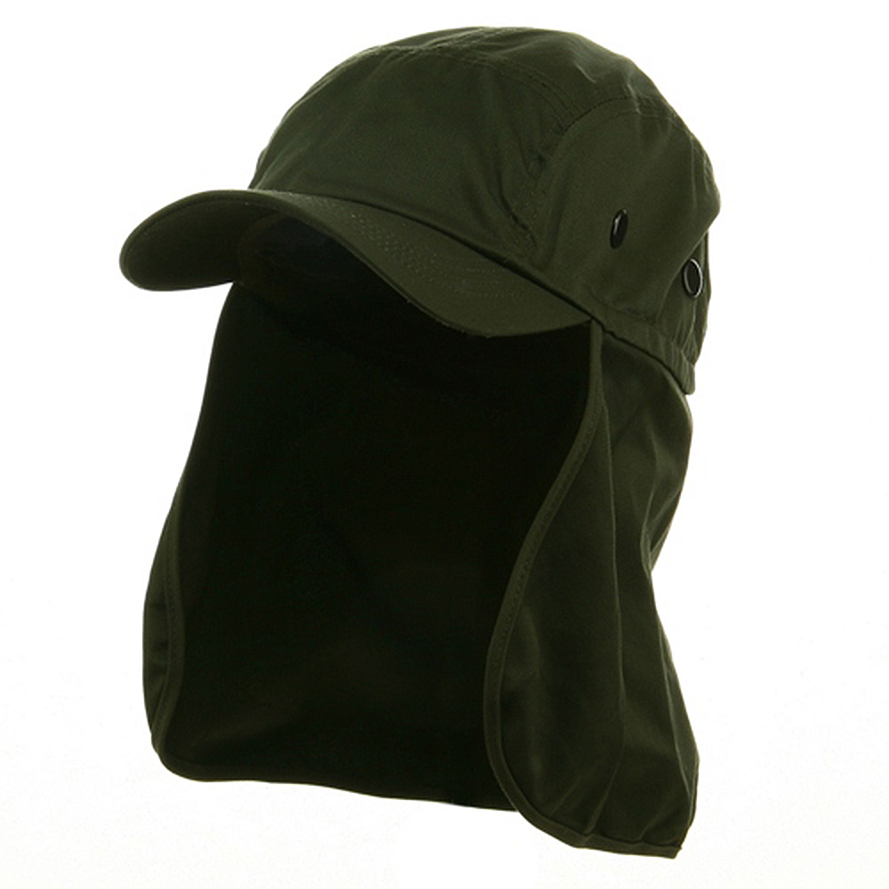 Flap Hats (03)-Olive - Hats and Caps Online Shop - Hip Head Gear