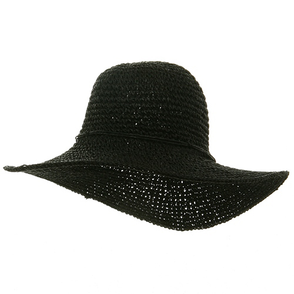 Ladies Hand Crocheted Hats-Black - Hats and Caps Online Shop - Hip Head Gear