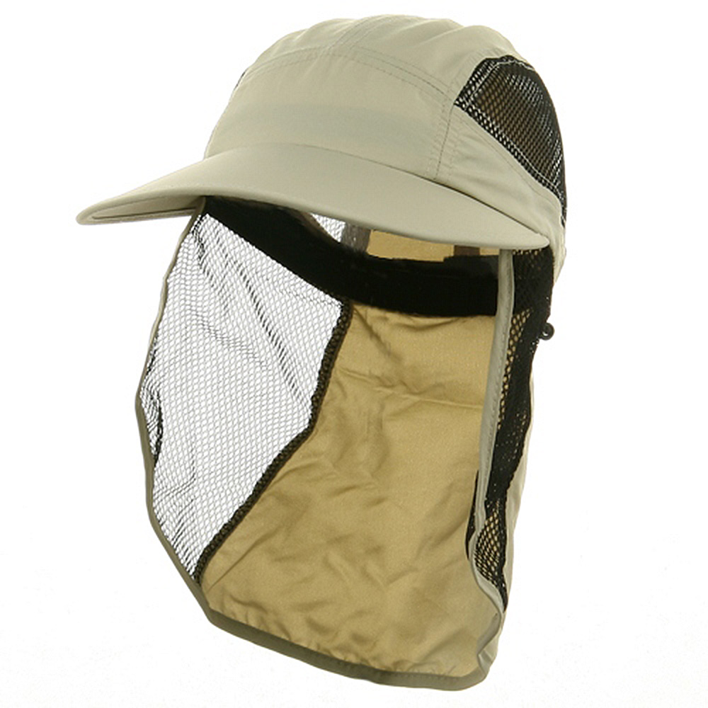 UV 50+ Protection Outdoor Flap Cap - Khaki - Hats and Caps Online Shop - Hip Head Gear