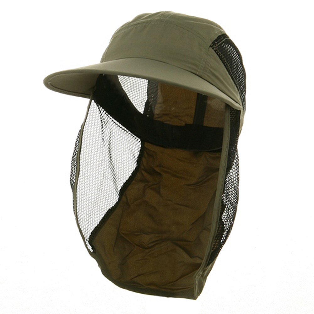 UV 50+ Protection Outdoor Flap Cap - Olive - Hats and Caps Online Shop - Hip Head Gear