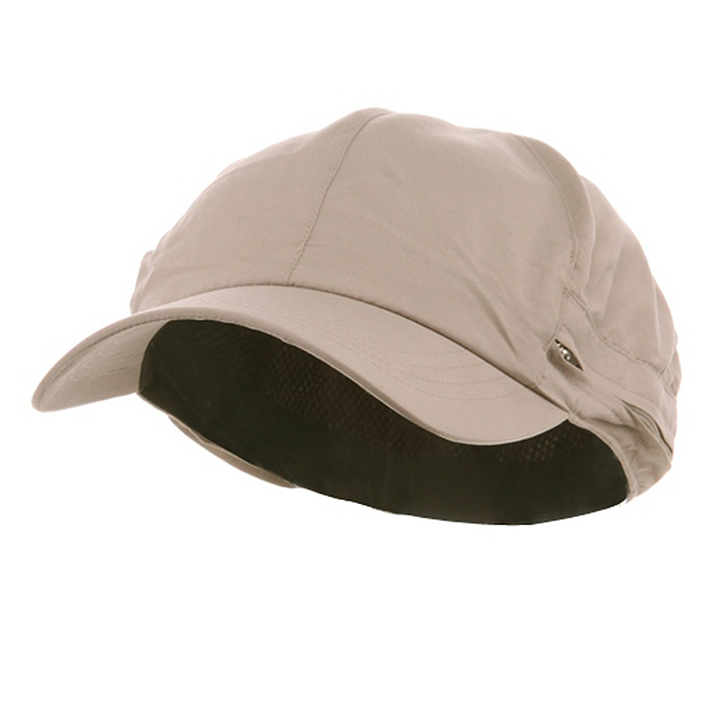 Zippered Flap Caps-Khaki - Hats and Caps Online Shop - Hip Head Gear
