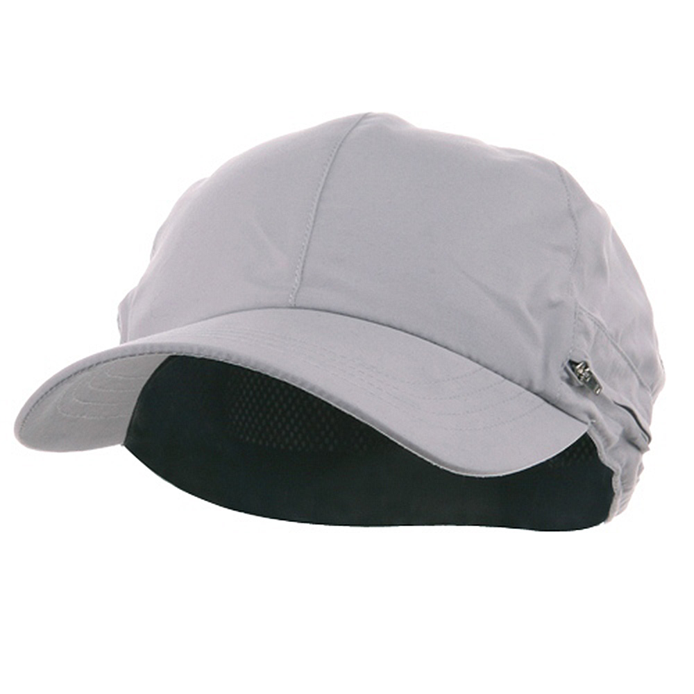 Zippered Flap Cap-Grey - Hats and Caps Online Shop - Hip Head Gear