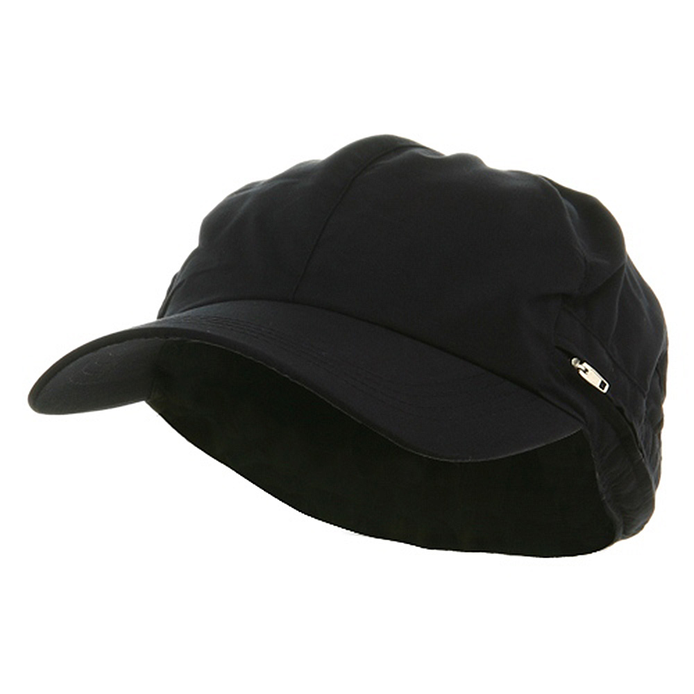 Zippered Flap Cap-Navy - Hats and Caps Online Shop - Hip Head Gear