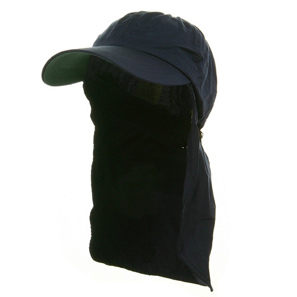 UV 45+ Zipper Flap Hats-Navy - Hats and Caps Online Shop - Hip Head Gear